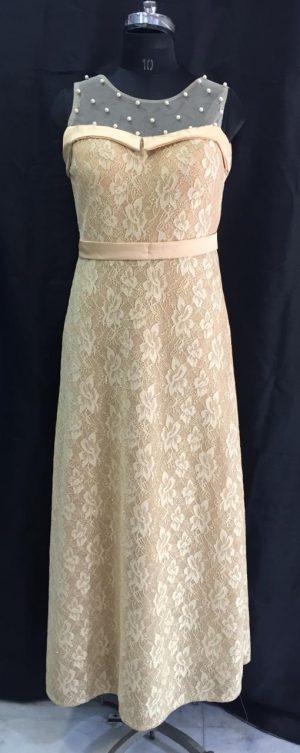Golden Net Long Gown
