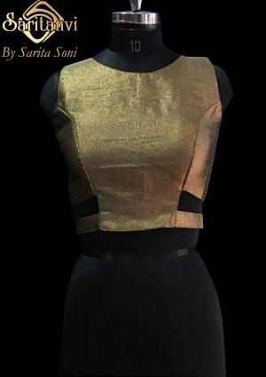 Bronze Brocade Padded Blouse